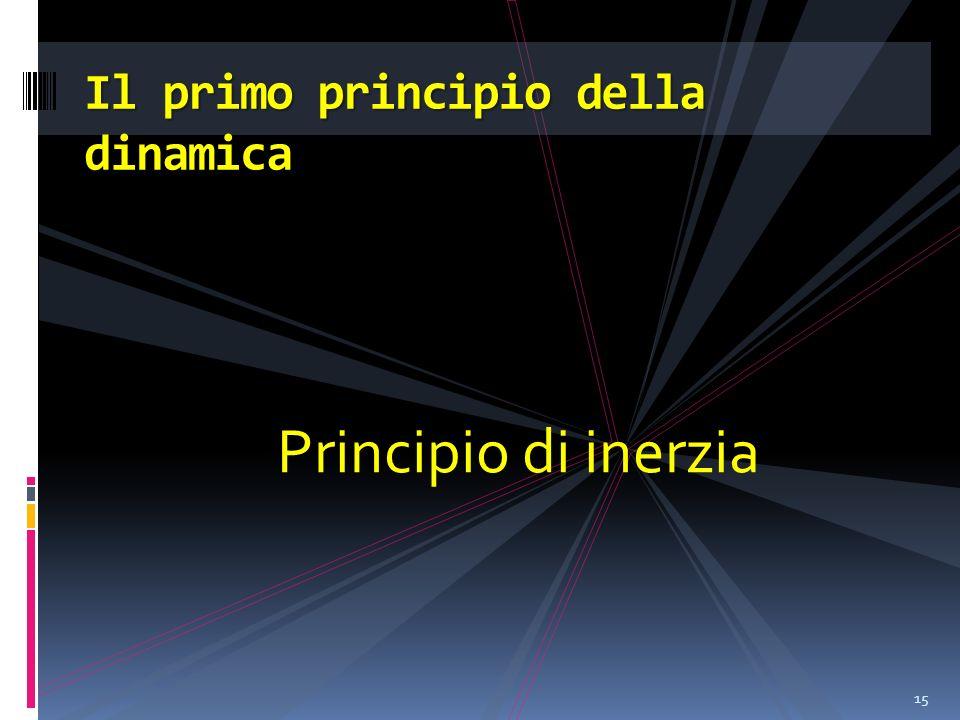 Principio di inerzia 15 Il primo principio della dinamica