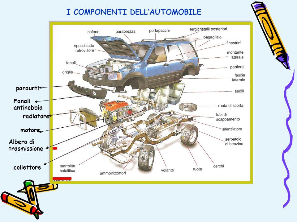 I COMPONENTI DELLAUTOMOBILE paraurti Fanali antinebbia radiatore motore Albero di trasmissione collettore