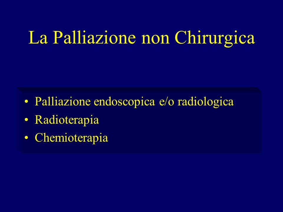 La Palliazione non Chirurgica Palliazione endoscopica e/o radiologica Radioterapia Chemioterapia