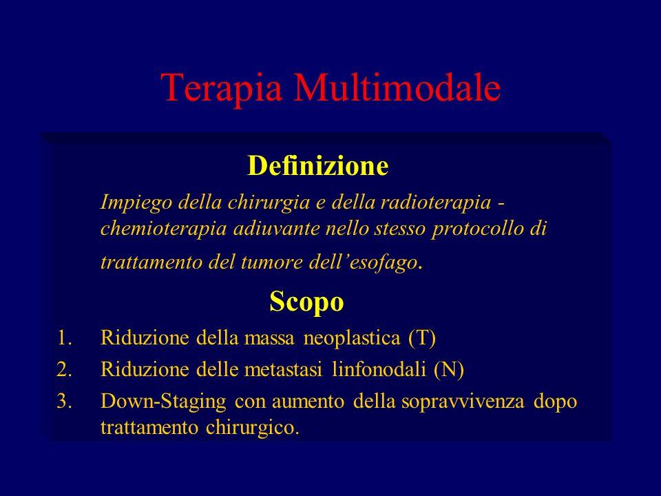 Terapia Multimodale Definizione Impiego della chirurgia e della radioterapia - chemioterapia adiuvante nello stesso protocollo di trattamento del tumo