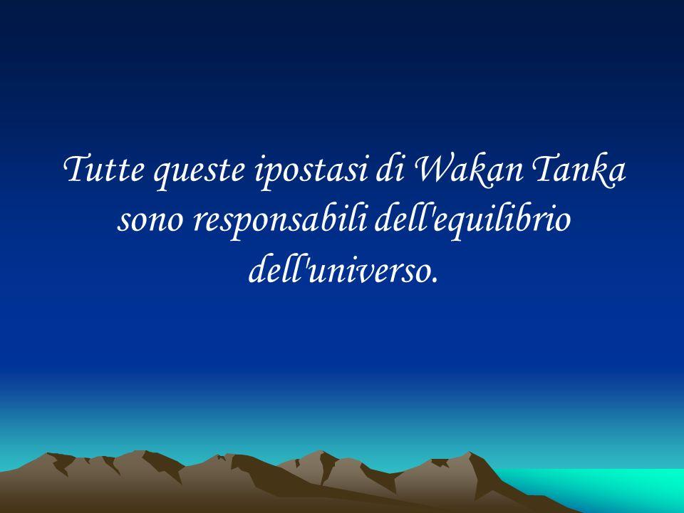Tutte queste ipostasi di Wakan Tanka sono responsabili dell'equilibrio dell'universo.
