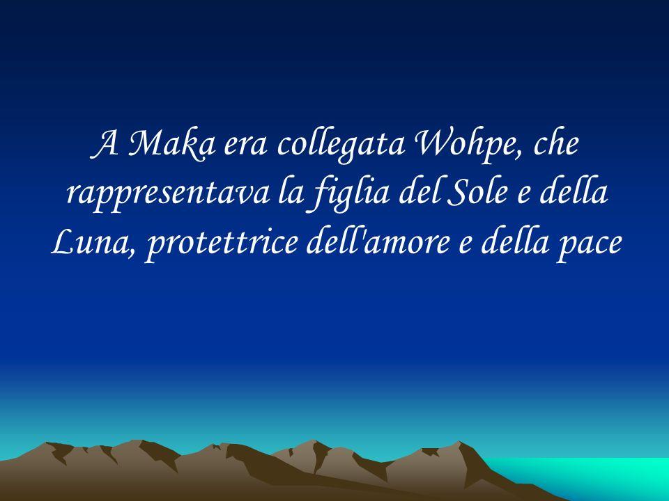 A Maka era collegata Wohpe, che rappresentava la figlia del Sole e della Luna, protettrice dell'amore e della pace