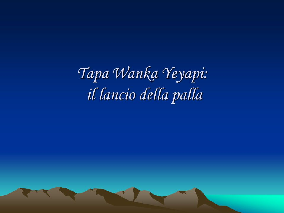 Tapa Wanka Yeyapi: il lancio della palla
