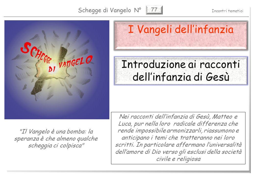 77 I Vangeli dellinfanzia I vangeli dellinfanzia (1) 2 Pag.