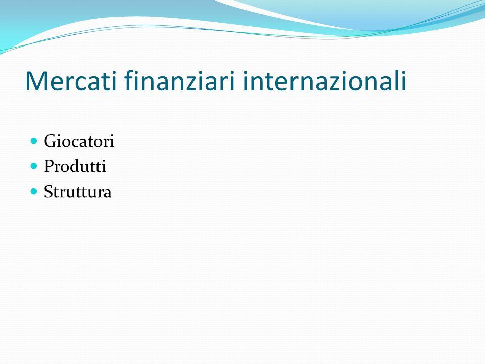 Accordo di Basilea II I crediti sono pesati per il rischio che incorporano; con laccordo Basilea I il peso era uniforme (4%) ma questo creava azzardo nei paesi emergenti (Argentina) e le imprese.