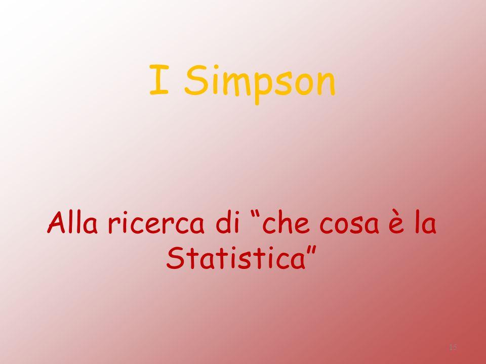 Alla ricerca di che cosa è la Statistica I Simpson 15