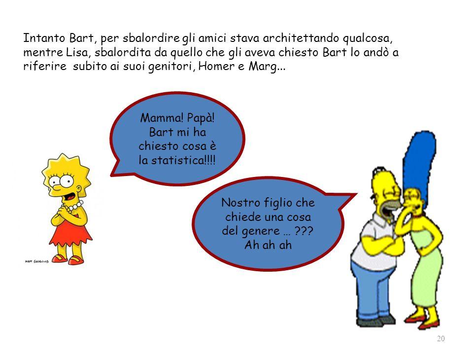 Intanto Bart, per sbalordire gli amici stava architettando qualcosa, mentre Lisa, sbalordita da quello che gli aveva chiesto Bart lo andò a riferire subito ai suoi genitori, Homer e Marg...