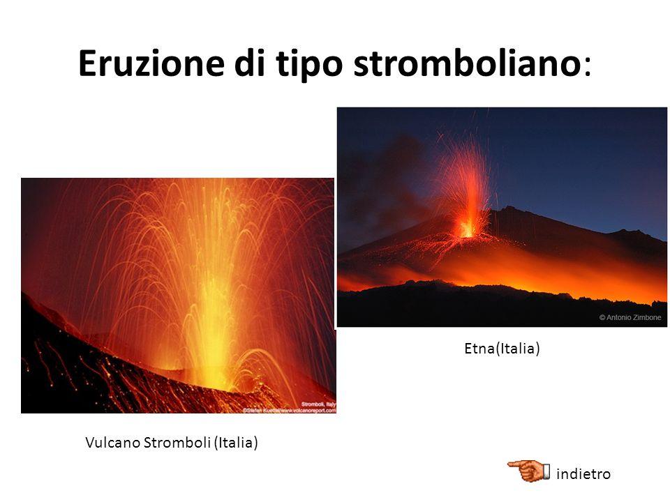 Eruzione di tipo stromboliano: Vulcano Stromboli (Italia) Etna(Italia) indietro