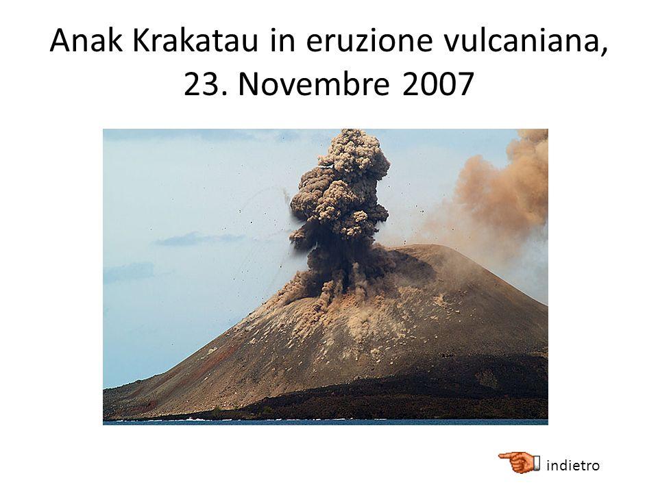 Anak Krakatau in eruzione vulcaniana, 23. Novembre 2007 indietro