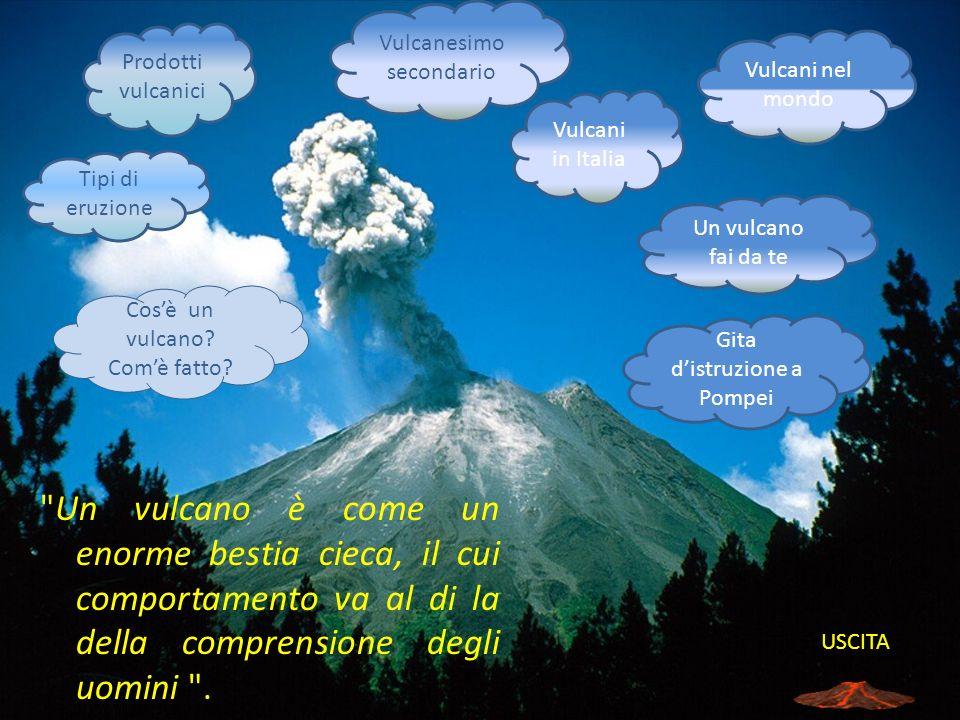 I Vulcani I vulcani sono delle fratture della crosta terrestre che mettono in comunicazione con l esterno una cavità sotterranea contenente magma e gas imprigionati allinterno della Terra.