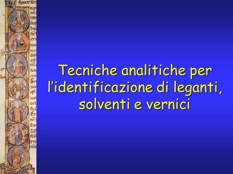 Identificazione del legante proteico impiegato da Piero della Francesca nel ciclo di affreschi La leggenda della vera croce (1452): dal confronto dei risultati con campioni di composizione nota, il legante è identificato come tempera a uovo.