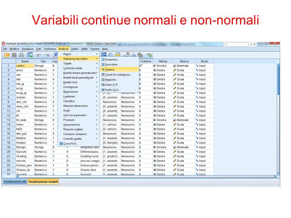 The Platinum Journal Analisi multivariata Varibili non tempo-dipendenti: regression model Variabili tempo-dipendenti: Cox proportional hazard model
