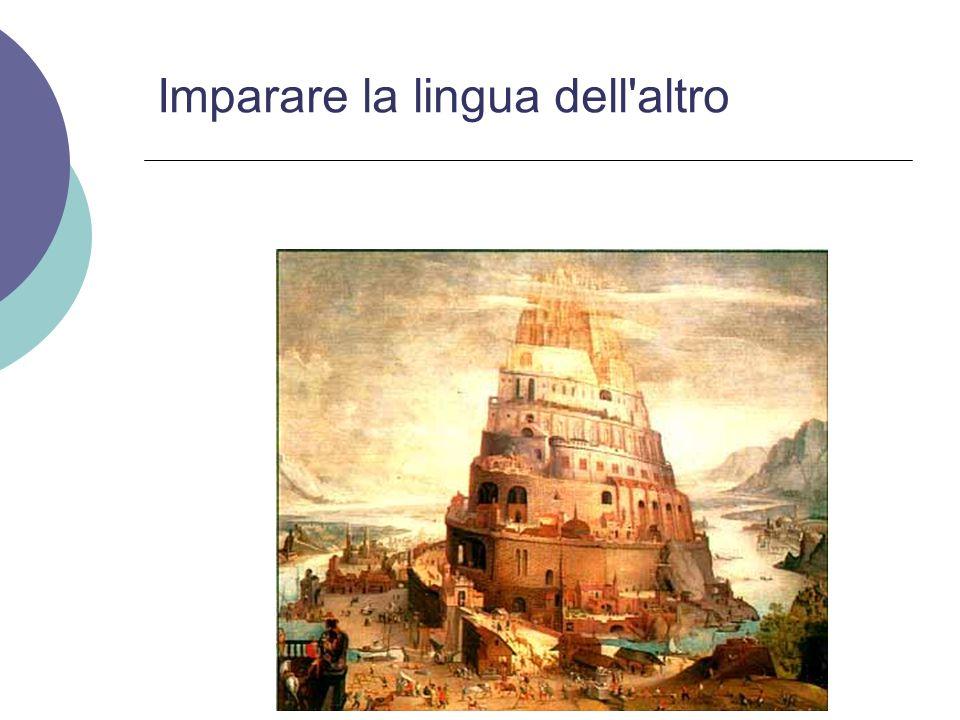 Imparare la lingua dell'altro
