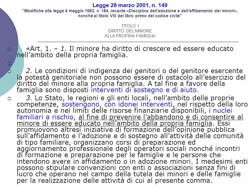 Legge 28 marzo 2001, n. 149