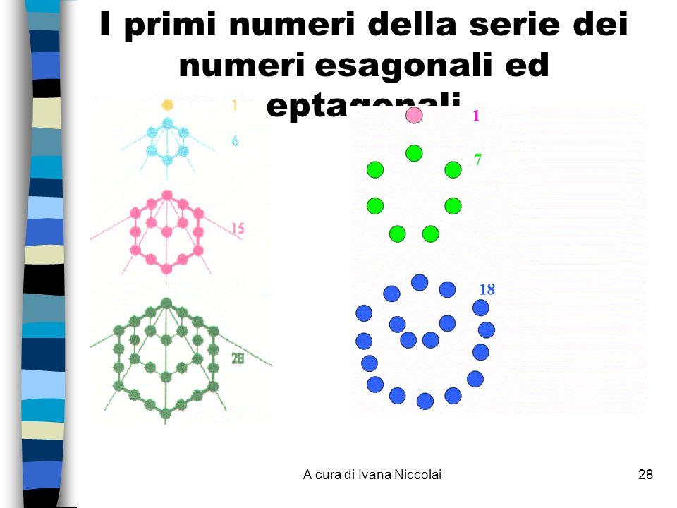 A cura di Ivana Niccolai28 I primi numeri della serie dei numeri esagonali ed eptagonali