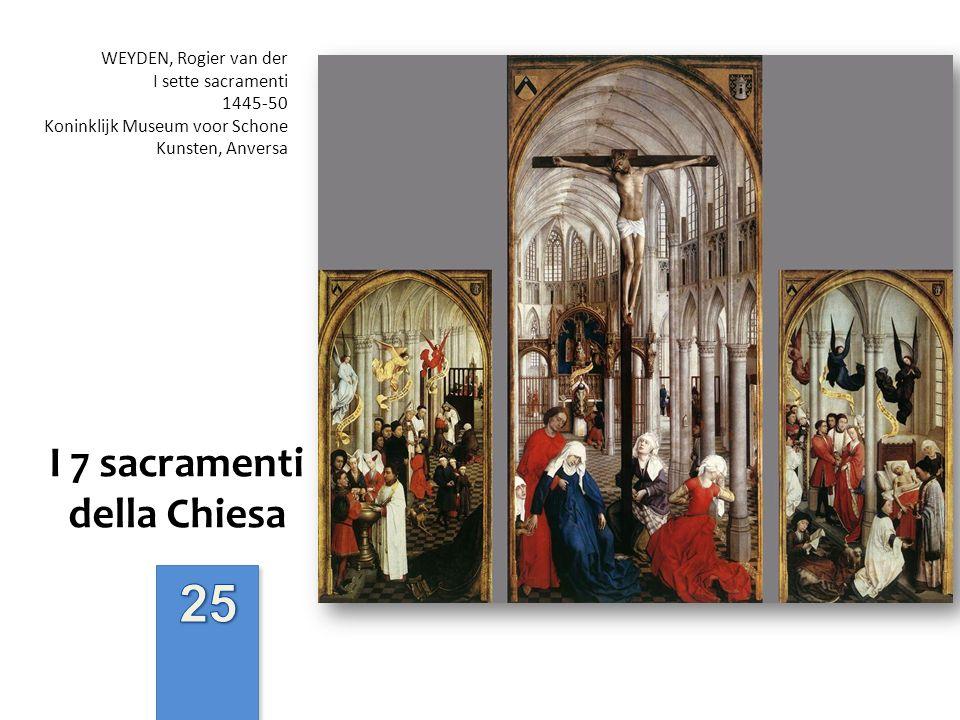 I 7 sacramenti della Chiesa WEYDEN, Rogier van der I sette sacramenti 1445-50 Koninklijk Museum voor Schone Kunsten, Anversa