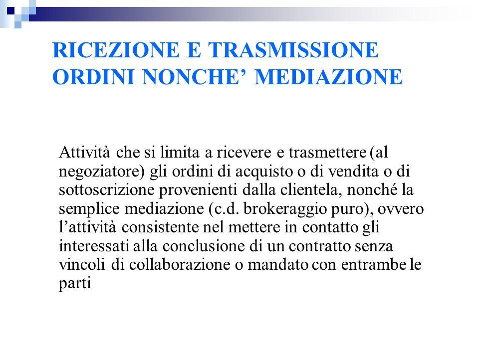 DISAPPLICAZIONE DI ALCUNE REGOLE PATERNALISTICHE NEI CONFRONTI DEGLI OPERATORI QUALIFICATI (ART.