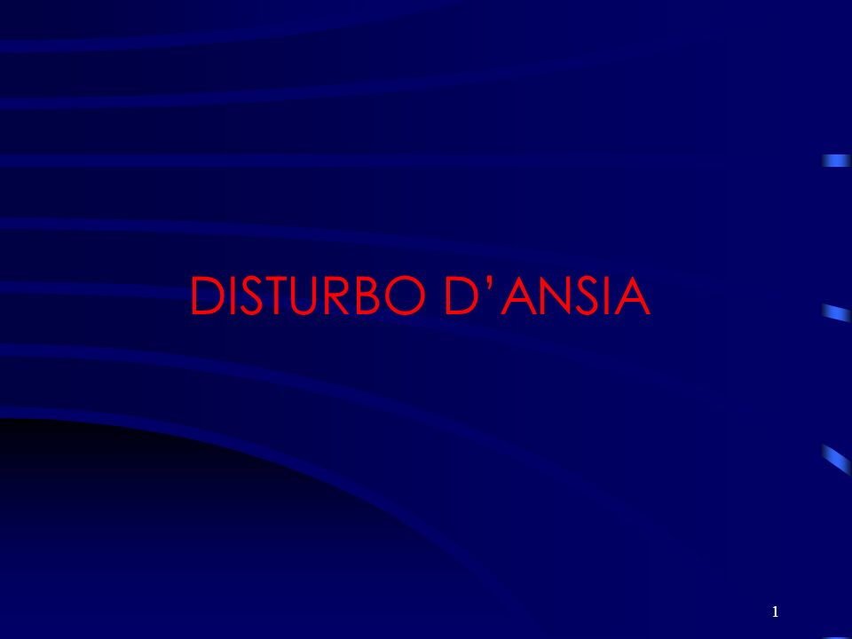 1 DISTURBO DANSIA