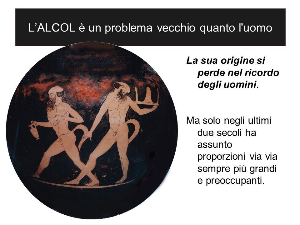 LALCOL è un problema vecchio quanto l'uomo La sua origine si perde nel ricordo degli uomini. Ma solo negli ultimi due secoli ha assunto proporzioni vi