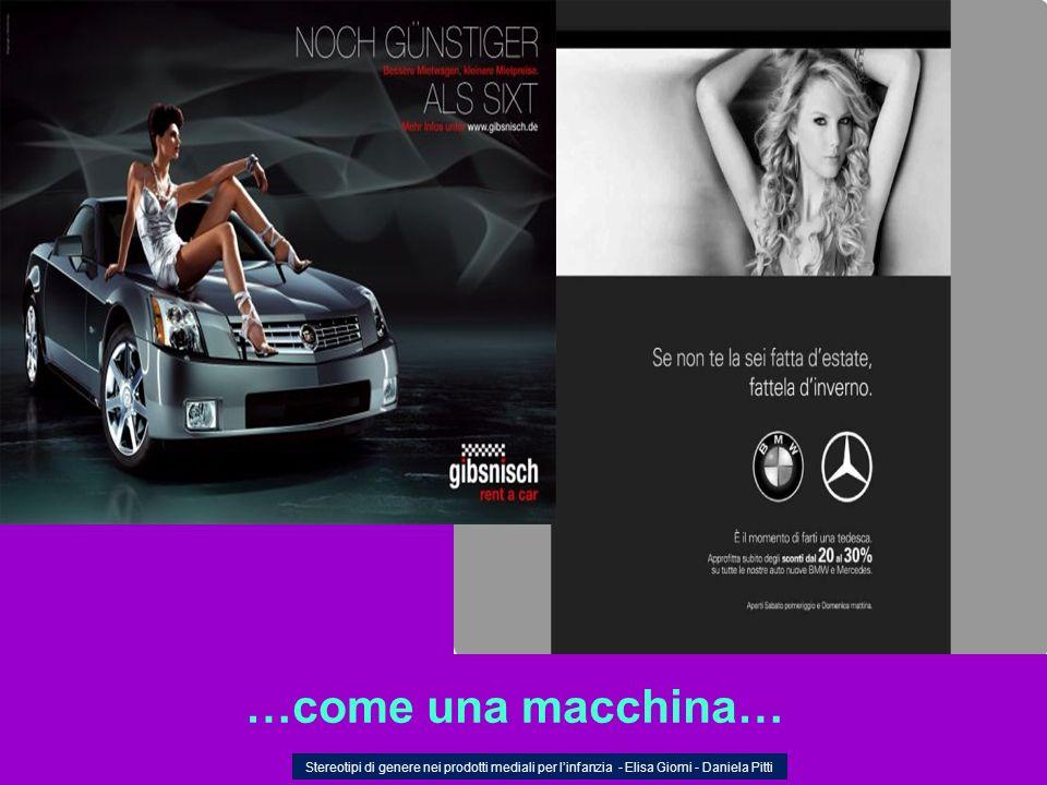…come una macchina… Stereotipi di genere nei prodotti mediali per linfanzia - Elisa Giomi - Daniela Pitti