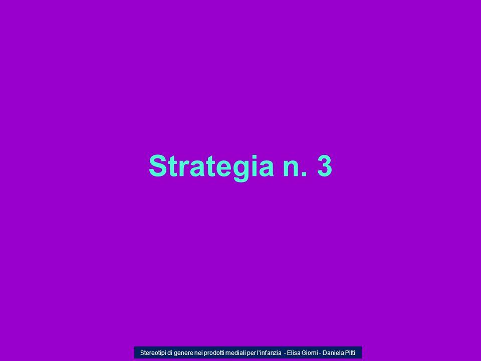 Strategia n. 3 Stereotipi di genere nei prodotti mediali per linfanzia - Elisa Giomi - Daniela Pitti