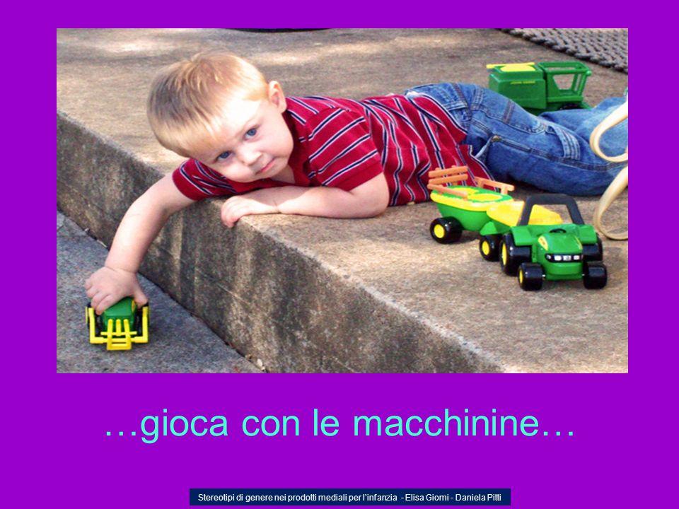 …gioca con le macchinine… Stereotipi di genere nei prodotti mediali per linfanzia - Elisa Giomi - Daniela Pitti
