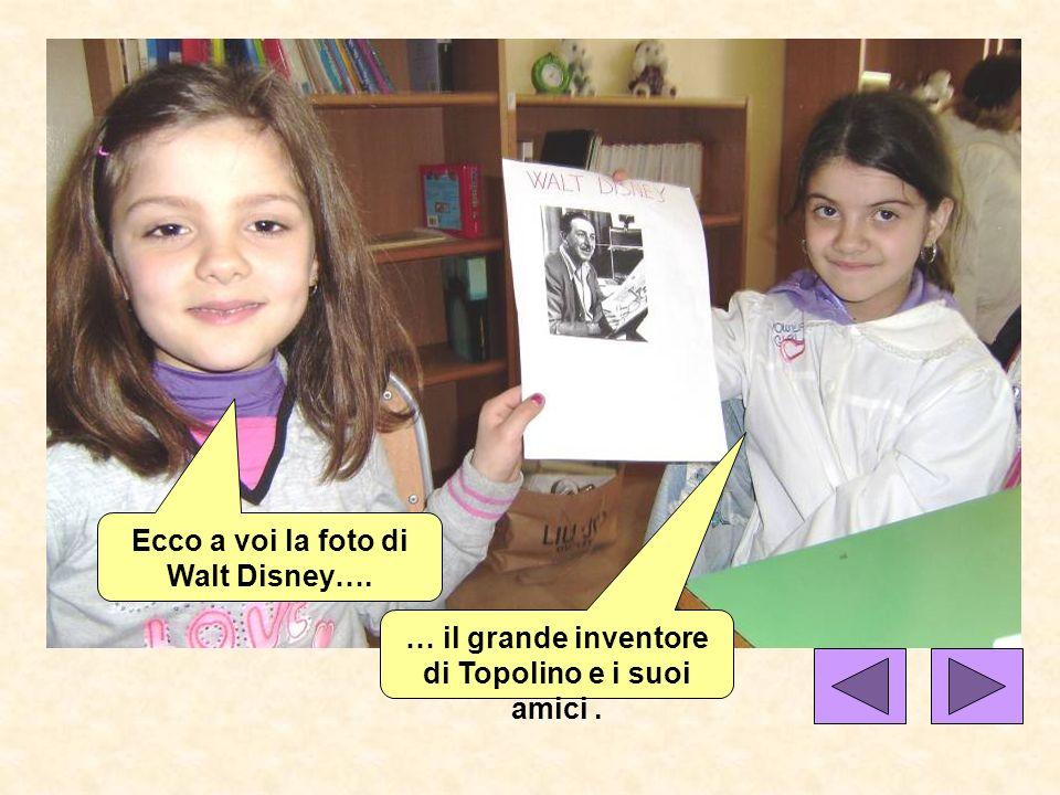 Ecco a voi la foto di Walt Disney…. … il grande inventore di Topolino e i suoi amici.