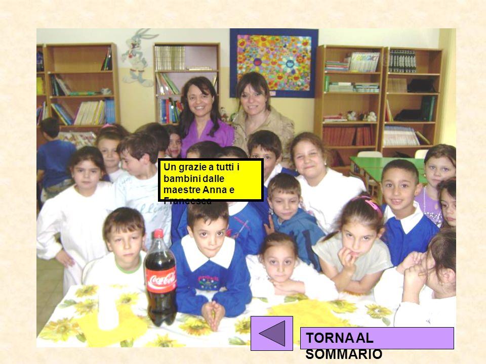 Un grazie a tutti i bambini dalle maestre Anna e Francesca TORNA AL SOMMARIO