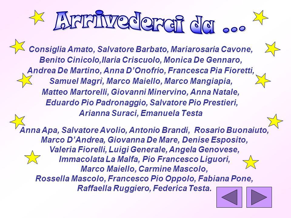 Consiglia Amato, Salvatore Barbato, Mariarosaria Cavone, Benito Cinicolo,Ilaria Criscuolo, Monica De Gennaro, Andrea De Martino, Anna DOnofrio, France
