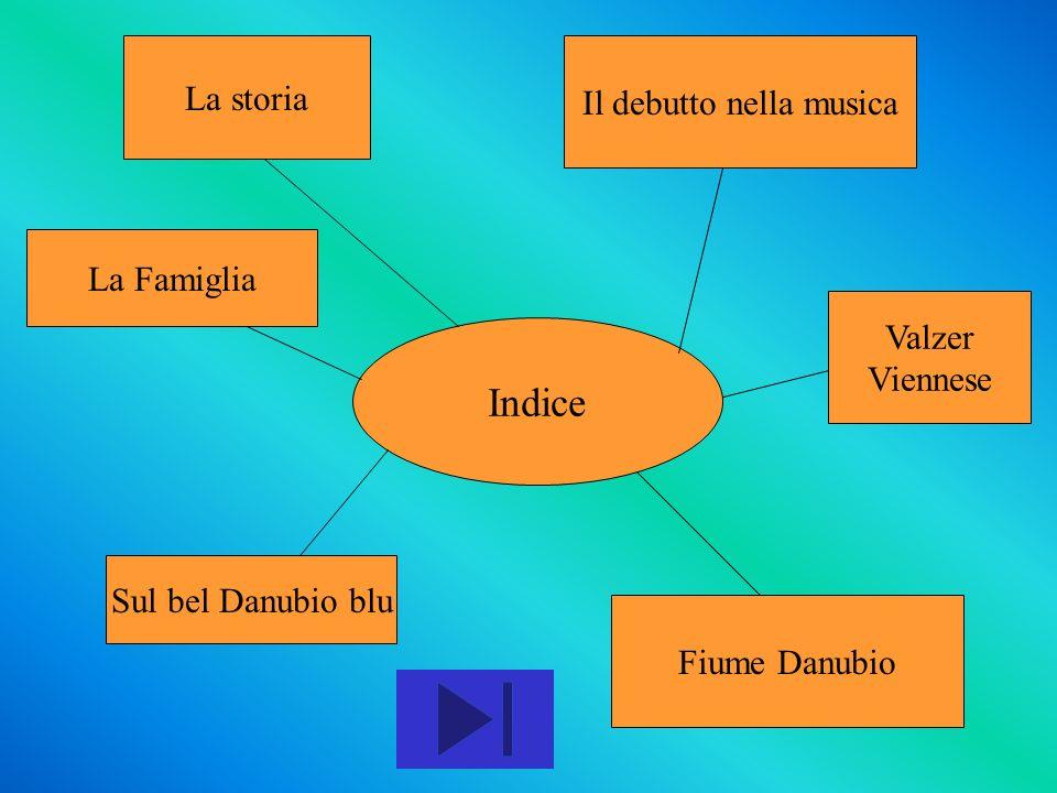 Indice La storia Il debutto nella musica La Famiglia Sul bel Danubio blu Fiume Danubio Valzer Viennese