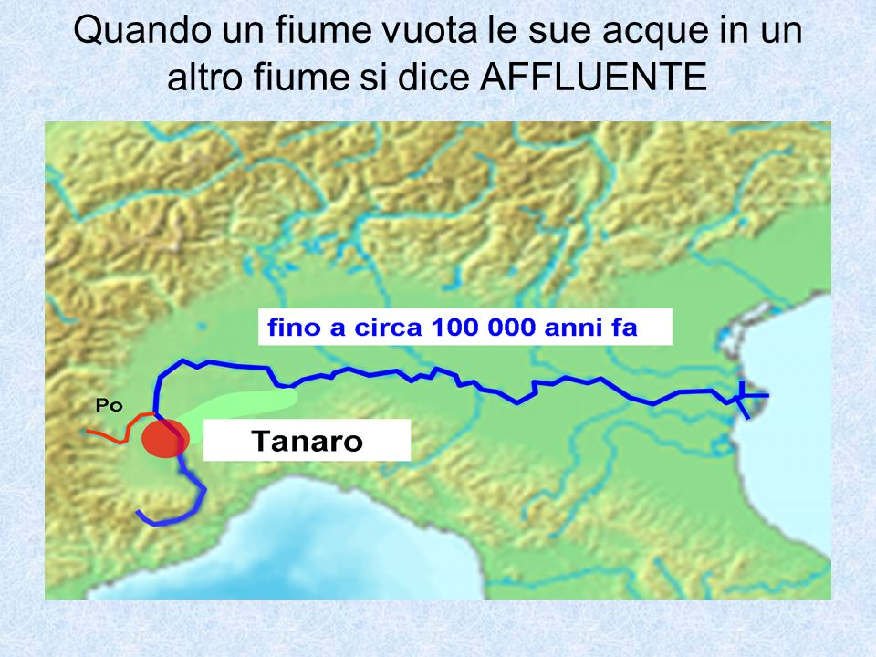 Il fiume sfocia in un mare, in fiume, in un lago. La foce può essere a DELTA o a ESTUARIO.