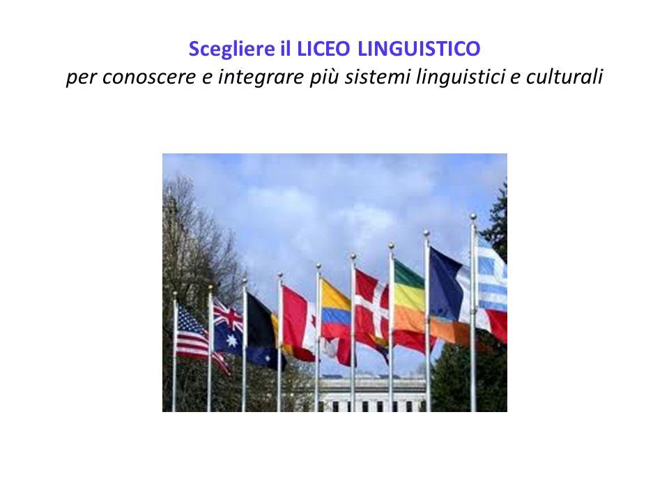 Scegliere il LICEO LINGUISTICO per conoscere e integrare più sistemi linguistici e culturali