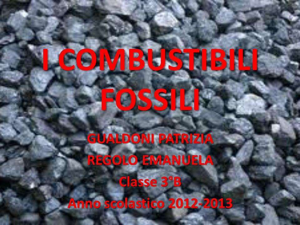 I COMBUSTIBILI FOSSILI GUALDONI PATRIZIA REGOLO EMANUELA Classe 3°B Anno scolastico 2012-2013
