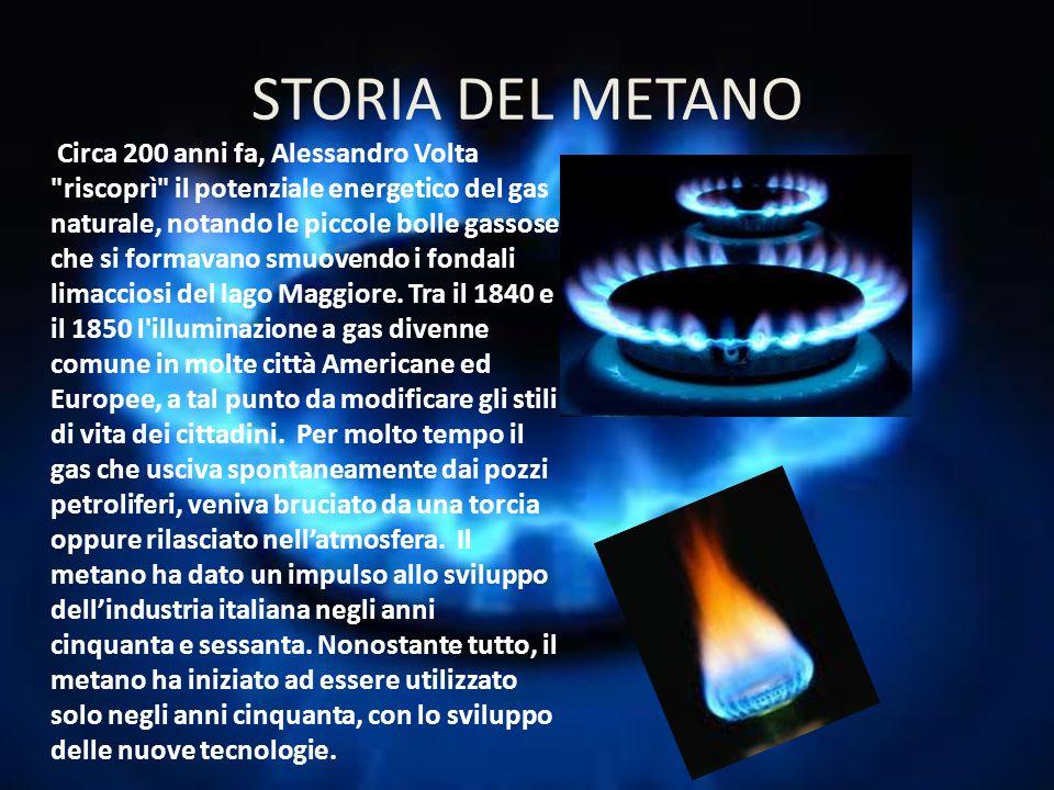 STORIA DEL METANO Circa 200 anni fa, Alessandro Volta
