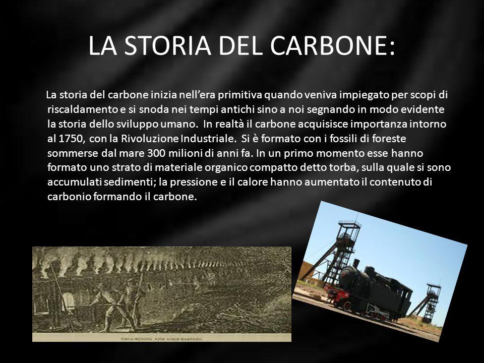 LA STORIA DEL CARBONE: La storia del carbone inizia nellera primitiva quando veniva impiegato per scopi di riscaldamento e si snoda nei tempi antichi