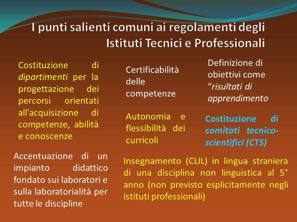 Insegnamento (CLIL) in lingua straniera di una disciplina non linguistica al 5° anno (non previsto esplicitamente negli istituti professionali) Autono