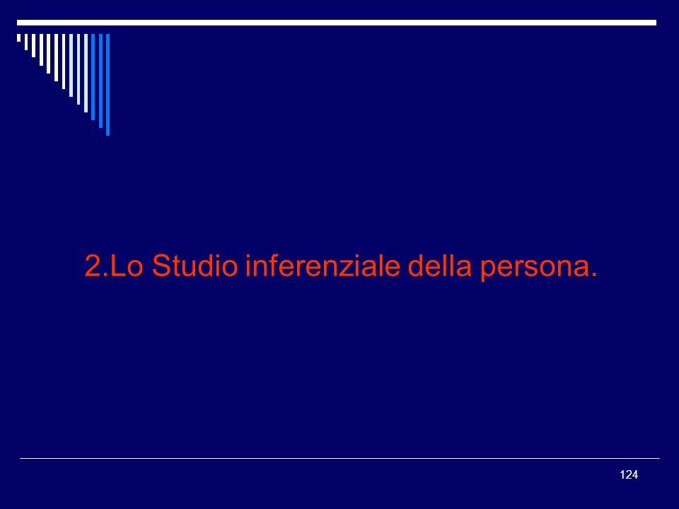 124 2.Lo Studio inferenziale della persona.
