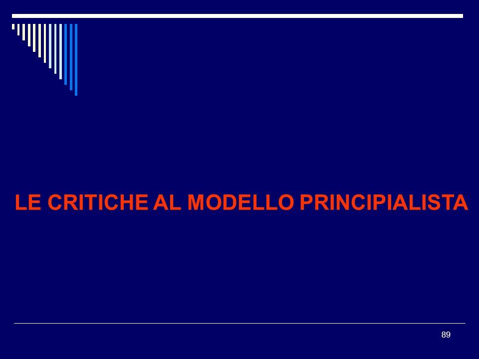89 LE CRITICHE AL MODELLO PRINCIPIALISTA