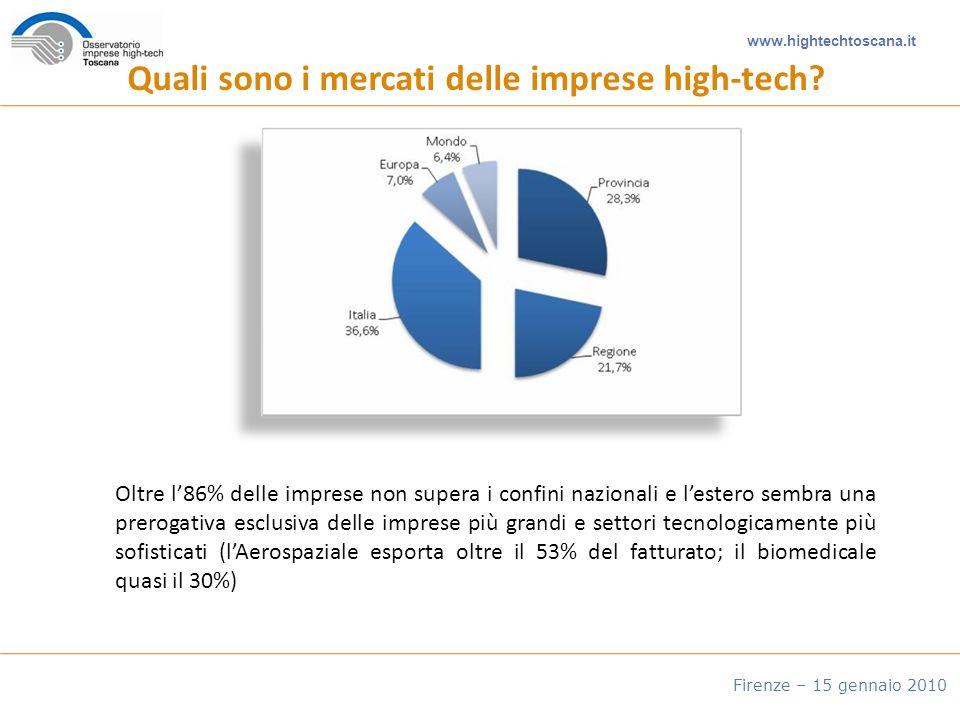 www.hightechtoscana.it Firenze – 15 gennaio 2010 Quali sono i mercati delle imprese high-tech.