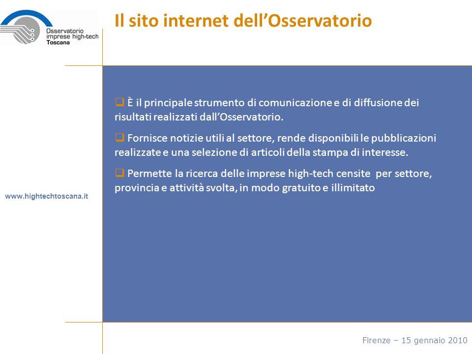 È il principale strumento di comunicazione e di diffusione dei risultati realizzati dallOsservatorio.