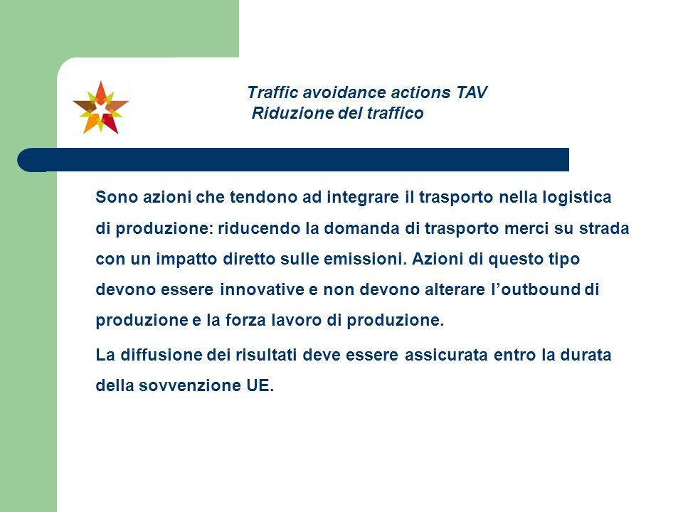 Sono azioni che tendono ad integrare il trasporto nella logistica di produzione: riducendo la domanda di trasporto merci su strada con un impatto dire