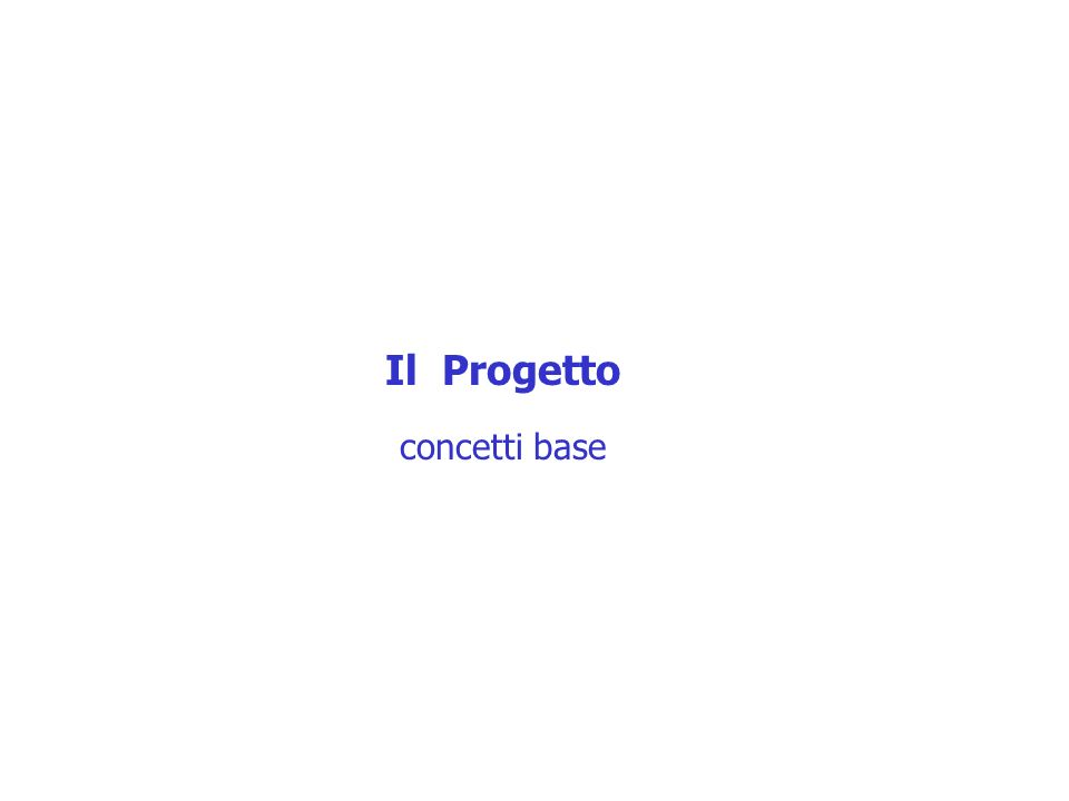 Il Progetto concetti base