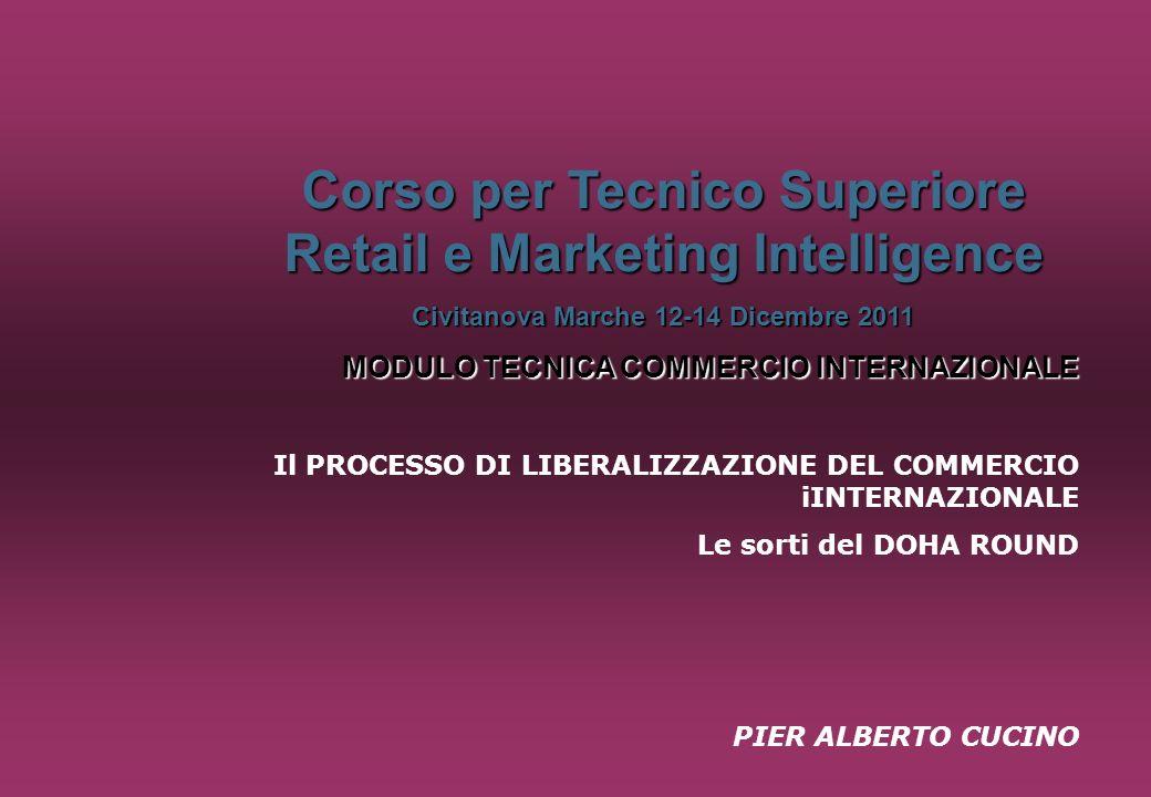 Corso per Tecnico Superiore Retail e Marketing Intelligence Civitanova Marche 12-14 Dicembre 2011 MODULO TECNICA COMMERCIO INTERNAZIONALE Il PROCESSO