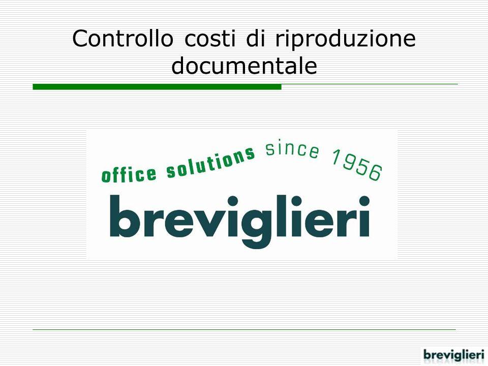 Controllo costi di riproduzione documentale