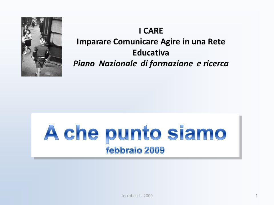 I CARE Imparare Comunicare Agire in una Rete Educativa Piano Nazionale di formazione e ricerca 1ferraboschi 2009