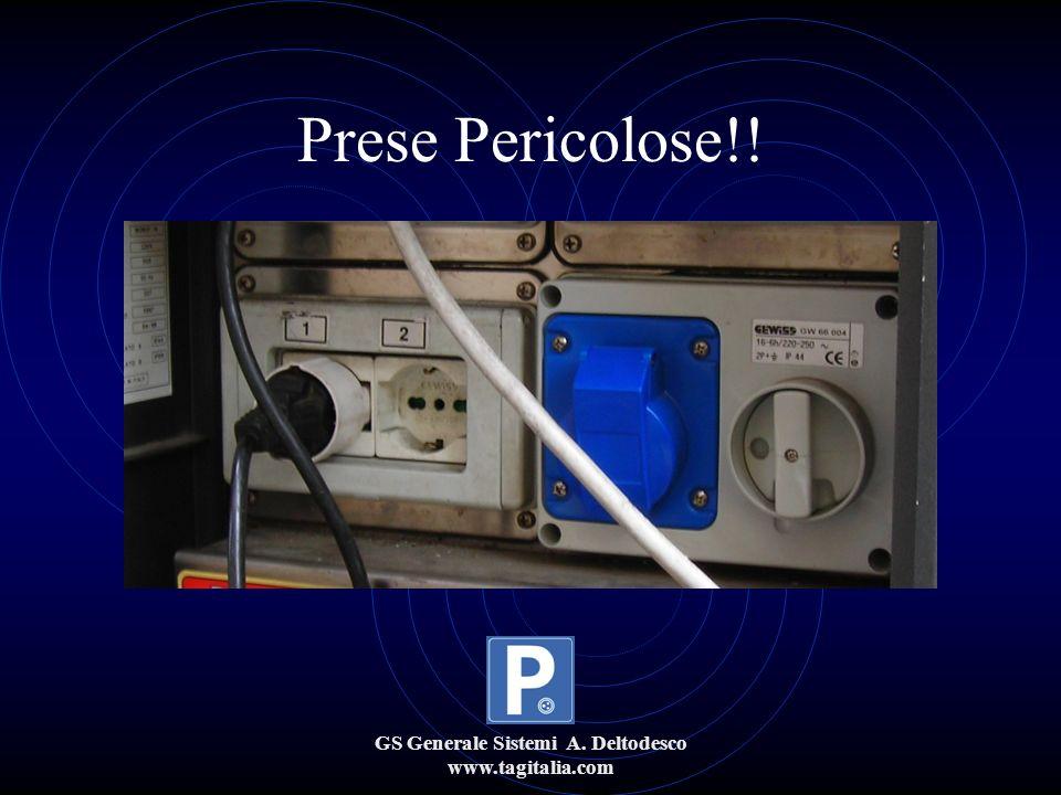 GS Generale Sistemi A. Deltodesco www.tagitalia.com Prese Pericolose!!