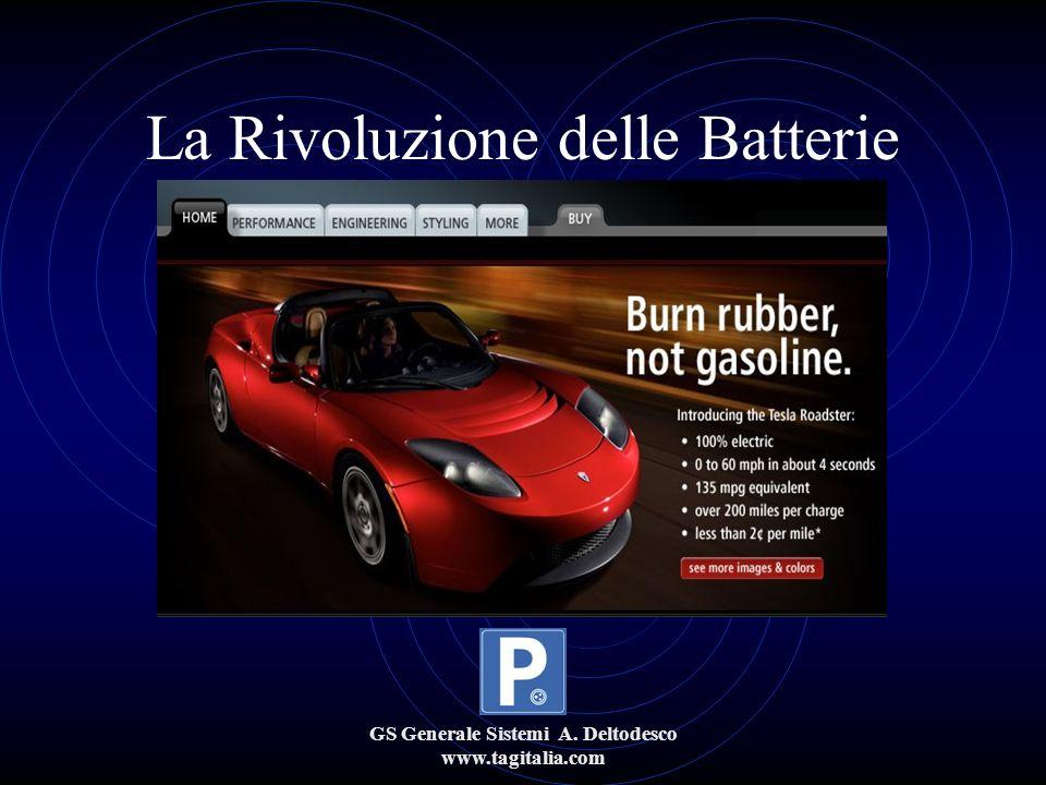 GS Generale Sistemi A. Deltodesco www.tagitalia.com La Rivoluzione delle Batterie