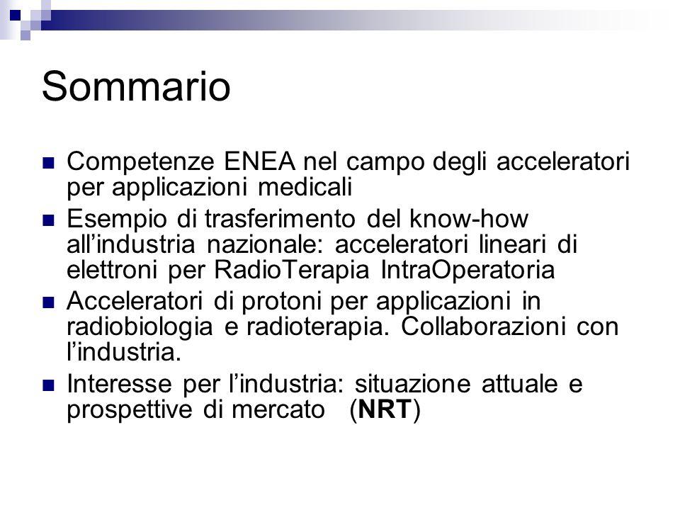 Sommario Competenze ENEA nel campo degli acceleratori per applicazioni medicali Esempio di trasferimento del know-how allindustria nazionale: accelera
