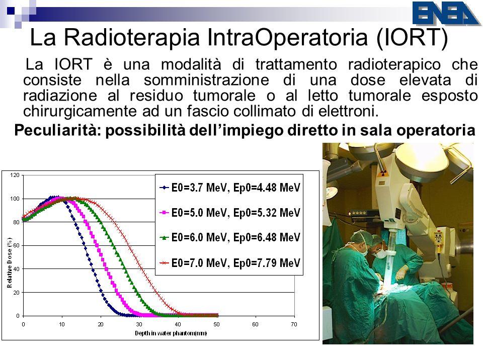 La Radioterapia IntraOperatoria (IORT) La IORT è una modalità di trattamento radioterapico che consiste nella somministrazione di una dose elevata di