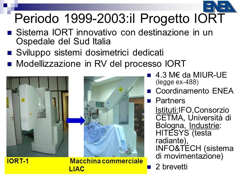 Periodo 1999-2003:il Progetto IORT 4.3 M da MIUR-UE (legge ex-488) Coordinamento ENEA Partners Istituti:IFO,Consorzio CETMA, Università di Bologna, In